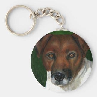 Dog Art - Jack Russell Terrier - Otis Basic Round Button Keychain