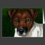 Dog Art - Jack Russell Terrier - Otis Greeting Card