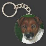 Dog Art - Jack Russell Terrier - Otis Keychain