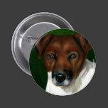 Dog Art - Jack Russell Terrier - Otis Pinback Button