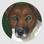 Dog Art - Jack Russell Terrier - Otis Stickers