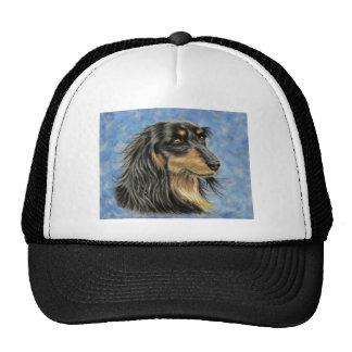Dog Art - Long Haired Dachshund Art Marcus Mesh Hats