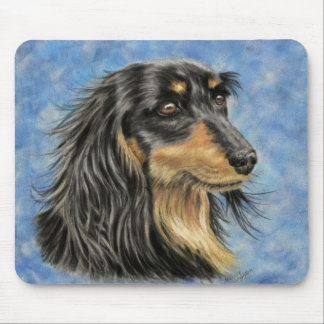Dog Art - Long Haired Dachshund Art Marcus Mouse Pad