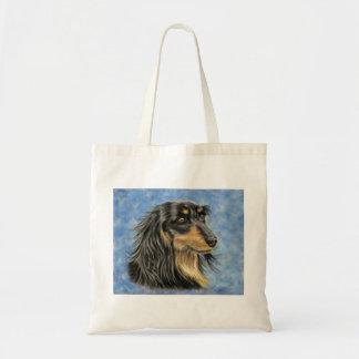 Dog Art - Long Haired Dachshund Art Marcus Tote Bag