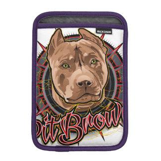 dog art radical pit bull brown and red iPad mini sleeve