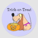 Dog Art Trick-or-Treat sticker