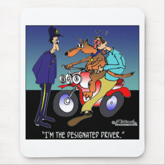 Dog As Designated Driver Mouse Pad