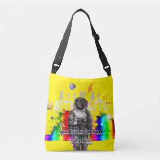 Dog Astronaut in Space Crossbody Bag