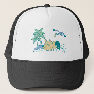 Dog at Beach Tshirts and Gifts Trucker Hat