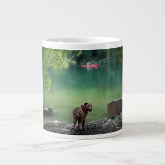 Dog At Ladybird Lake - Downtown Austin Texas Jumbo Mugs