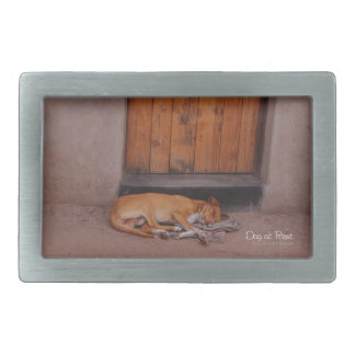 Dog at Rest Belt Buckle