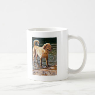 DOG AT WATER'S EDGE COFFEE MUG