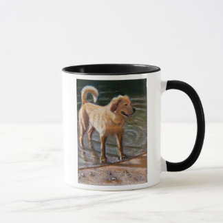 DOG AT WATER'S EDGE MUG