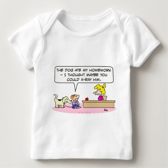 dog ate homework x-ray baby T-Shirt