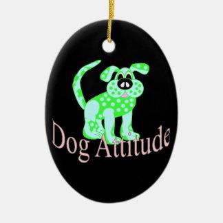 Dog Attitude Ceramic Ornament