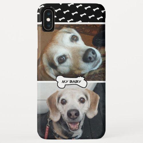 Dog Baby Your Own 2 Photo Modern Cute Bone Pattern Phone Case