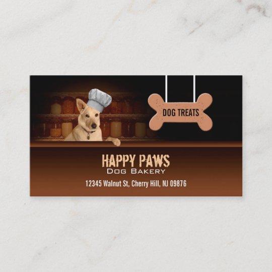 Dog bakery business cards zazzle dog bakery business cards reheart Gallery