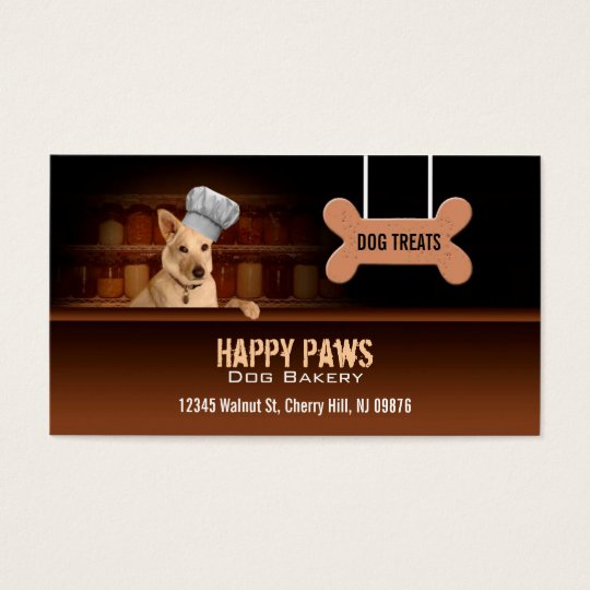 Dog bakery business cards zazzle dog bakery business cards reheart Image collections