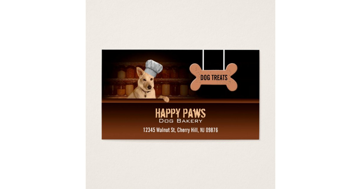 Dog bakery business cards zazzle reheart Image collections