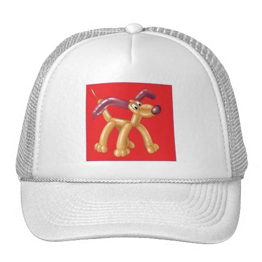 DOG BALLOON TRUCKER HATS