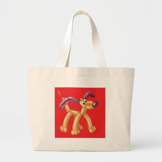 DOG BALLOON LARGE TOTE BAG