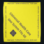 """Dog Bandana for universal health care<br><div class=""""desc"""">Let your dog start the single-payer health care for all conversation with this adorable neck bandana for dogs.</div>"""