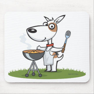 Dog Barbecue Mouse Pad