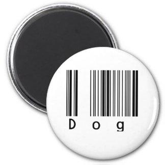 Dog Barcode 2 Inch Round Magnet