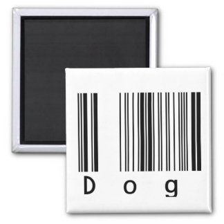 Dog Barcode 2 Inch Square Magnet