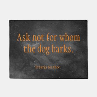 dog bark welcome doormat