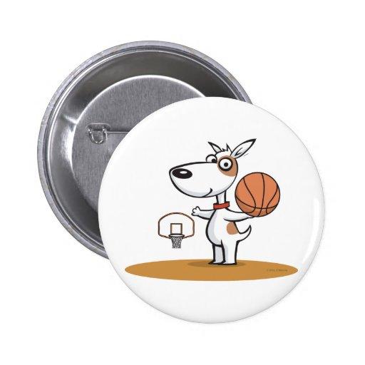 Dog Basketball Pin