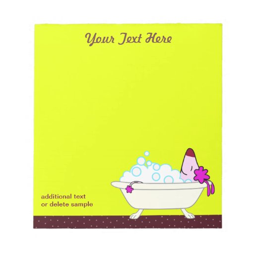 Dog Bath for Pet Groomers - yellow Memo Note Pads