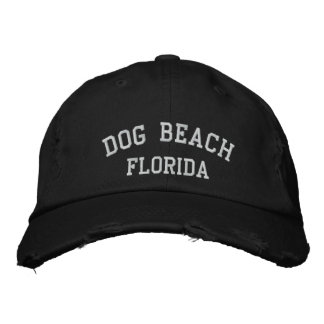 Dog Beach Embroidered Hats