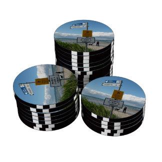 Dog Beach in Raa Sweden Poker Chip Set