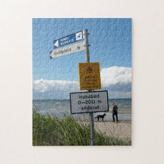 Dog Beach in Raa Sweden Jigsaw Puzzles