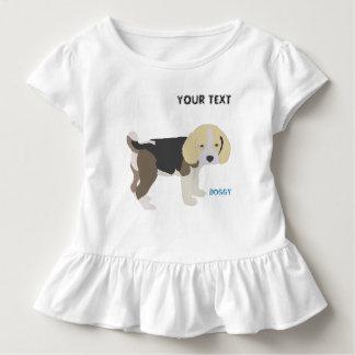 dog beagle enjoys a stroll toddler t-shirt