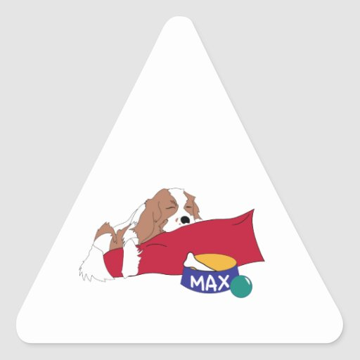 Dog Bed Triangle Stickers