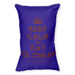 [Crown] keep calm and eat ice-cream  Dog beds small dog bed