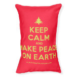 [Xmas tree] keep calm and make peace on earth  Dog beds small dog bed