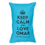 [Crown] keep calm and love omar  Dog beds small dog bed