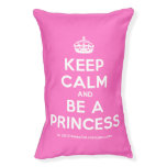 [Crown] keep calm and be a princess  Dog beds small dog bed