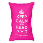 [Crown] keep calm and read p.y.t  Dog beds small dog bed