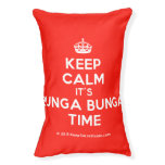 [Crown] keep calm it's bunga bunga time  Dog beds small dog bed