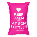 [Love heart] keep calm and eat some skittles!  Dog beds small dog bed