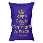 [Dancing crown] keep calm and don't give a fuck  Dog beds small dog bed