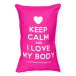 [Love heart] keep calm and i love my body  Dog beds small dog bed