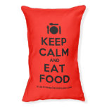 [Cutlery and plate] keep calm and eat food  Dog beds small dog bed