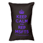 [Crown] keep calm and rep msfts  Dog beds small dog bed