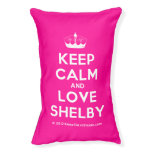 [Knitting crown] keep calm and love shelby  Dog beds small dog bed