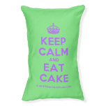 [Crown] keep calm and eat cake  Dog beds small dog bed
